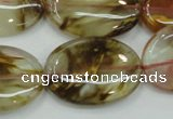 CTS51 15.5 inches 22*30mm oval tigerskin glass beads wholesale