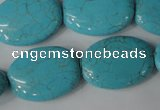CTU1895 15.5 inches 18*25mm oval imitation turquoise beads