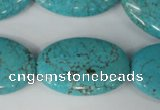 CTU1896 15.5 inches 20*30mm oval imitation turquoise beads