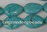 CTU1905 15.5 inches 18*25mm flat teardrop imitation turquoise beads