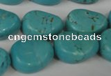 CTU1910 15.5 inches 18*22mm freefrom imitation turquoise beads