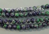 CTU2150 15.5 inches 4mm round synthetic turquoise beads