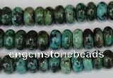CTU484 15.5 inches 6*10mm rondelle African turquoise beads wholesale