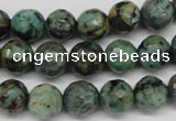 CTU552 15.5 inches 8mm faceted round African turquoise beads