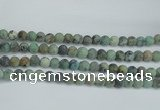 CTU565 15.5 inches 10mm round matte african turquoise beads