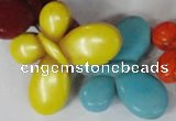 CTU739 15.5 inches 25*35mm butterfly dyed turquoise beads wholesale