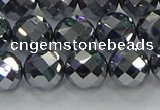 CTZ613 15.5 inches 10mm faceted round terahertz beads wholesale