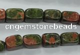 CUG67 15.5 inches 8*12mm nuggets unakite gemstone beads wholesale