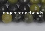 CUJ102 15.5 inches 8mm faceted round African green autumn jasper beads