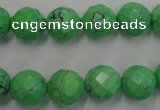 CWB393 15.5 inches 10mm faceted round howlite turquoise beads