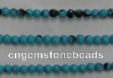 CWB550 15.5 inches 2mm round howlite turquoise beads wholesale