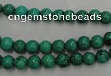 CWB565 15.5 inches 6mm round howlite turquoise beads wholesale