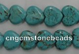 CWB715 15.5 inches 12*12mm heart howlite turquoise beads wholesale