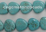 CWB748 15.5 inches 14*14mm triangle howlite turquoise beads wholesale