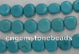 CWB750 15.5 inches 9mm freeform howlite turquoise beads wholesale