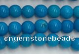 CWB857 15.5 inches 4mm round howlite turquoise beads wholesale