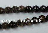 CWJ212 15.5 inches 8mm faceted round wood jasper gemstone beads