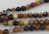 CWJ280 15.5 inches 5mm round wood jasper gemstone beads wholesale
