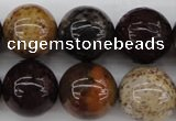 CWJ286 15.5 inches 18mm round wood jasper gemstone beads wholesale