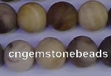 CWJ415 15.5 inches 14mm round matte wood jasper beads wholesale