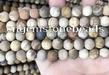 CWJ442 15.5 inches 8mm round matte wood jasper beads wholesale