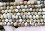 CWJ451 15.5 inches 6mm faceted round wood jasper beads wholesale