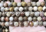 CWJ453 15.5 inches 10mm faceted round wood jasper beads wholesale