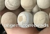 CWJ522 15.5 inches 8mm round matte wooden jasper beads wholesale