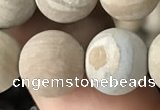 CWJ524 15.5 inches 12mm round matte wooden jasper beads wholesale