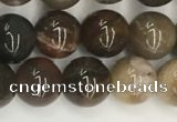CWJ576 15.5 inches 8mm round wood jasper beads wholesale
