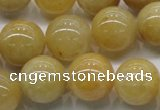 CYJ403 15.5 inches 10mm round yellow jade gemstone beads