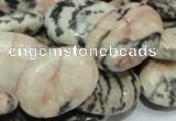 CZJ09 16 inches 18*25mm oval zebra jasper gemstone beads Wholesale