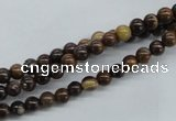 CZJ168 15.5 inches 4mm round iron zebra jasper beads wholesale