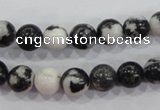 CZJ204 15.5 inches 10mm round black & white zebra jasper beads