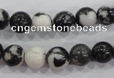 CZJ205 15.5 inches 12mm round black & white zebra jasper beads