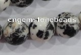 CZJ208 15.5 inches 18mm round black & white zebra jasper beads