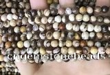 CZJ291 15.5 inches 6mm round brown zebra jasper beads wholesale
