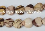 CZJ351 15.5 inches 12*12mm heart zebra jasper beads wholesale