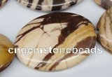 CZJ360 15.5 inches 30*40mm oval zebra jasper beads wholesale