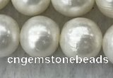 FWP114 15 inches 10mm - 11mm potato white freshwater pearl strands