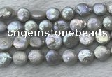 FWP390 15 inches 11mm - 12mm coin freshwater pearl beads