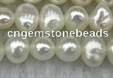 FWP40 14.5 inches 4mm - 5mm potato white freshwater pearl strands