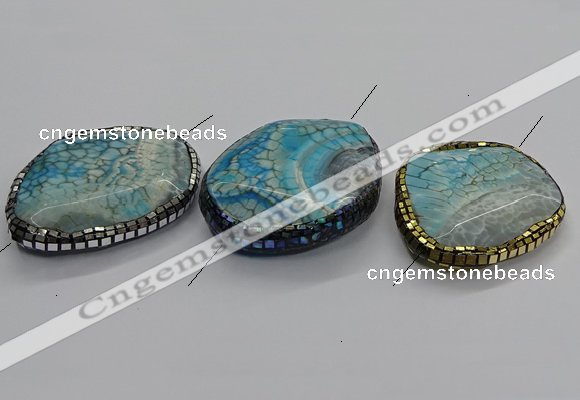 NGC1758 45*55mm - 45*60mm freeform agate connectors