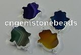 NGC5016 22*30mm - 25*35mm hamsahand agate gemstone connectors