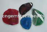 NGP1268 40*55mm - 60*80mm freeform agate gemstone pendants wholesale