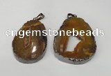 NGP1487 30*45mm - 40*50mm freeform plated druzy agate pendants