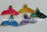 NGP2274 38*55mm - 40*60mm fishtail agate gemstone pendants