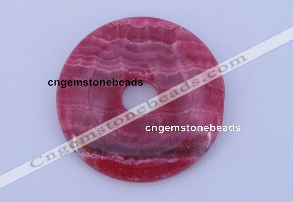 NGP229 7*50mm fashion dyed rhodochrosite gemstone donut pendant