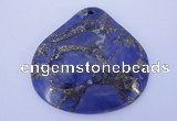 NGP247 42*44mm dyed golden turquoise & pyrite gemstone pendants