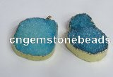 NGP2473 45*55mm - 50*65mm freeform druzy agate pendants wholesale